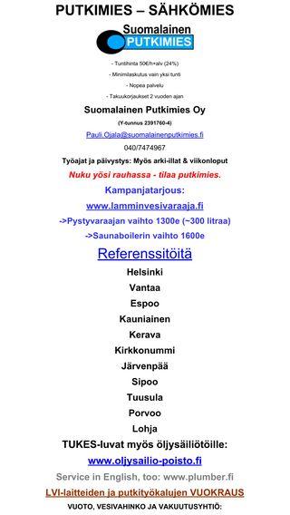 Mobile preview of suomalainenputkimies.fi
