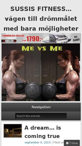 Mobile preview of sussisfitness.se