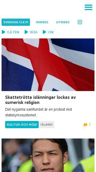 Mobile preview of svenska.yle.fi