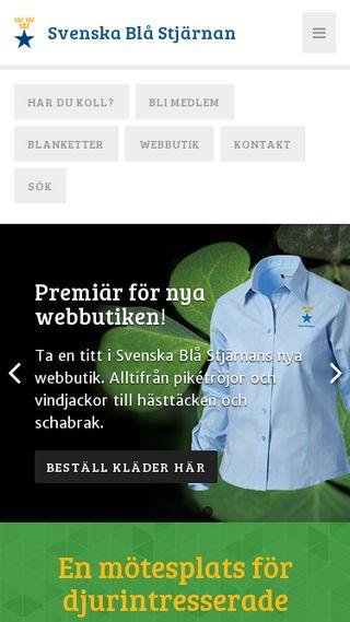 Mobile preview of svenskablastjarnan.se