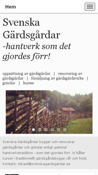 Mobile preview of svenskagardsgardar.se