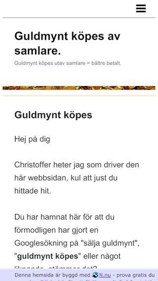 Mobile preview of svenskaguldmynt.se