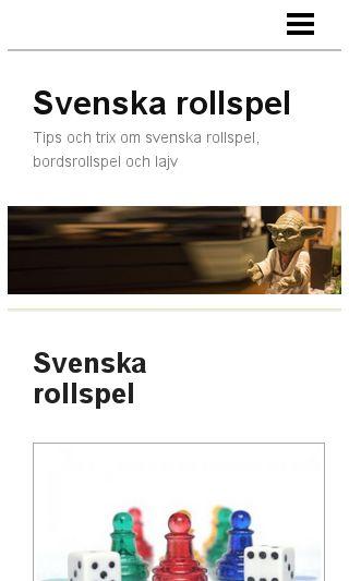 Mobile preview of svenskarollspel.se