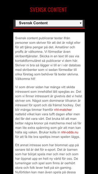 Mobile preview of svenskcontent.se
