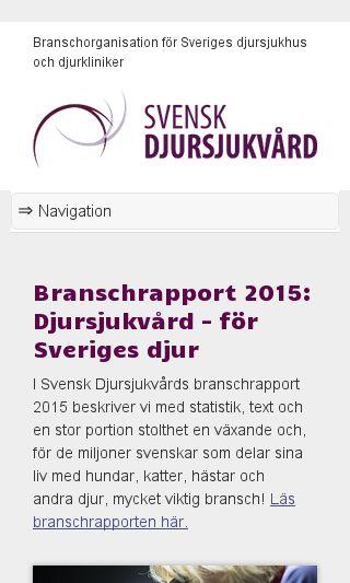 Mobile preview of svenskdjursjukvard.se