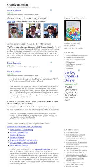 Mobile preview of svenskgrammatik.se