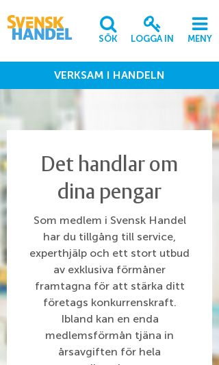 Mobile preview of svenskhandel.se