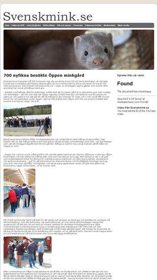 Mobile preview of svenskmink.se