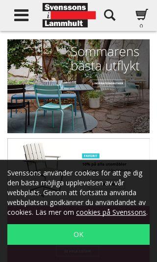 Mobile preview of svenssons.se