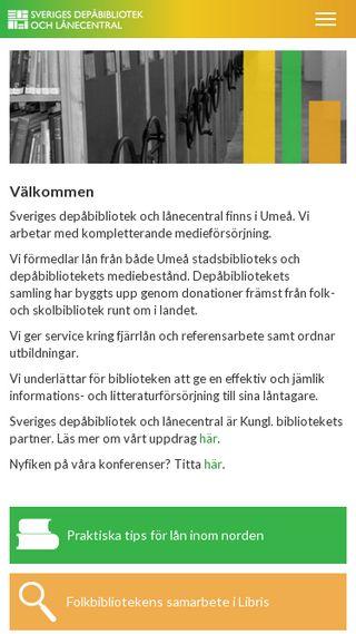 Mobile preview of sverigesdepabibliotekochlanecentral.se