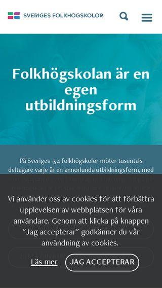 Mobile preview of sverigesfolkhogskolor.se