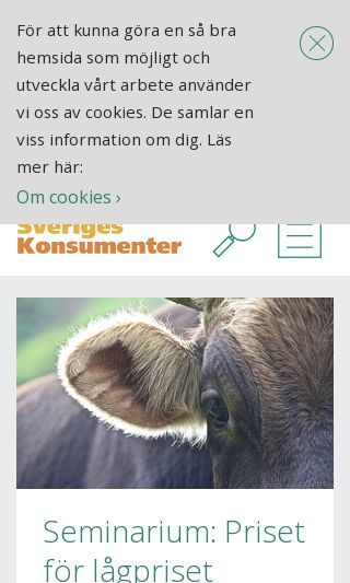Mobile preview of sverigeskonsumenter.se