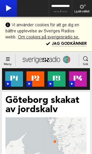 Mobile preview of sverigesradio.se
