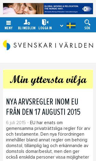 Mobile preview of sviv.se