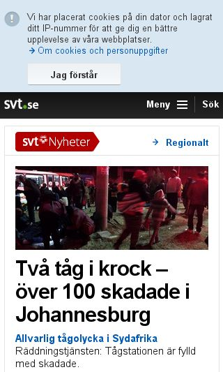 Mobile preview of svt.se