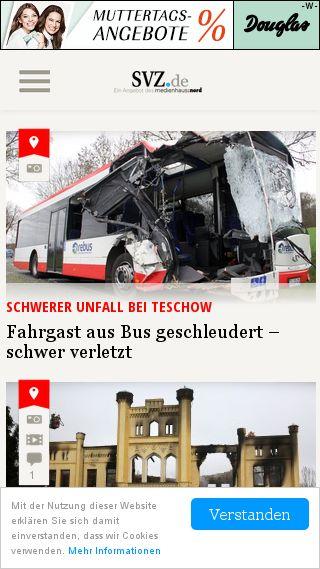 Mobile preview of svz.de