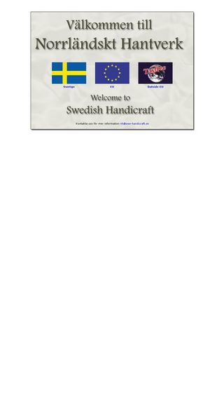 Mobile preview of swe-handicraft.se