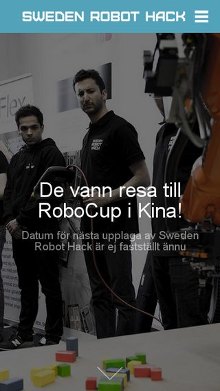 Mobile preview of swedenrobothack.se