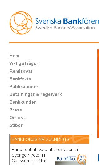 Mobile preview of swedishbankers.se
