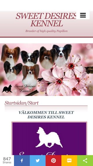 Mobile preview of sweetdesireskennel.se