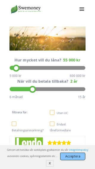 Mobile preview of swemoney.se