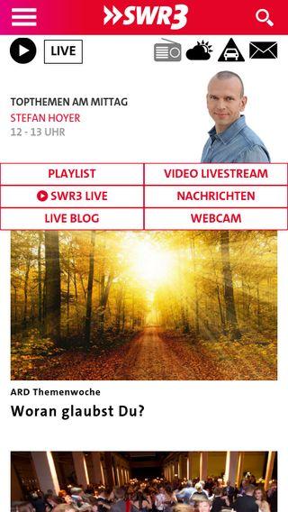 Mobile preview of swr3.de