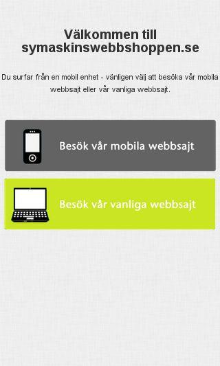 Mobile preview of symaskinswebbshoppen.se