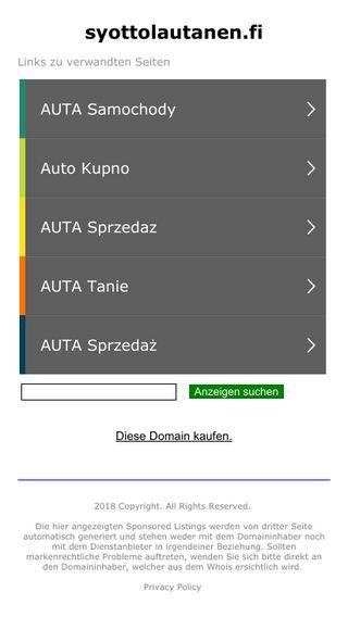 Mobile preview of syottolautanen.fi