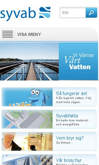 Mobile preview of syvab.se