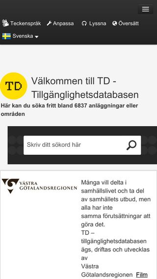 Mobile preview of t-d.se