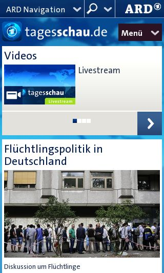 Mobile preview of tagesschau.de