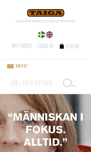 Mobile preview of taiga.se
