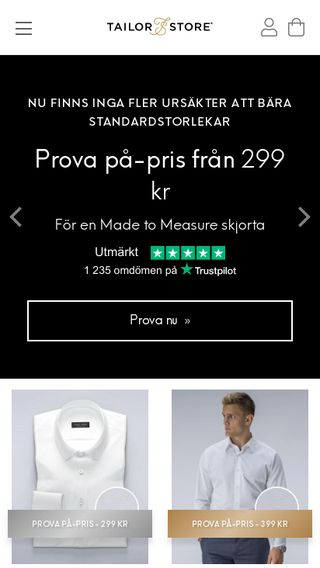 Mobile preview of tailorstore.se