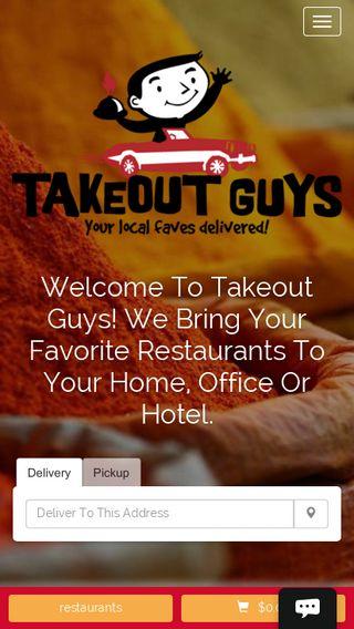 Mobile preview of takeoutguys.biz