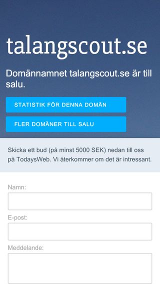 Mobile preview of talangscout.se