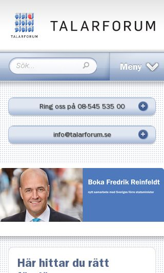 Mobile preview of talarforum.se