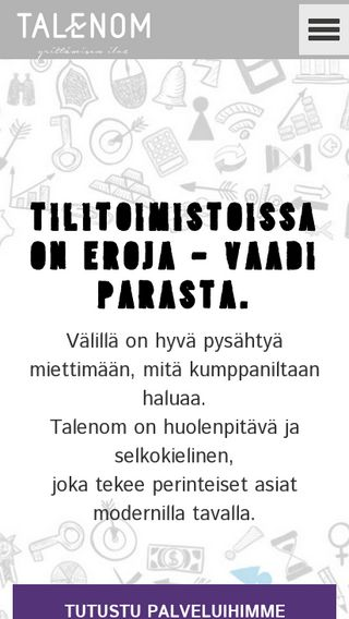 Mobile preview of talenom.fi