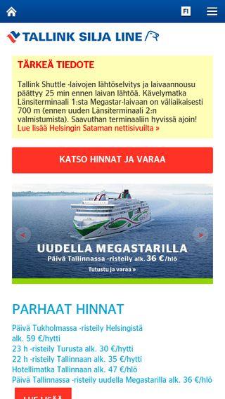 Mobile preview of tallinksilja.fi