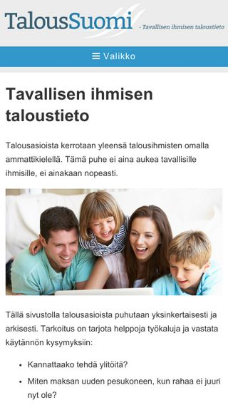 Mobile preview of taloussuomi.fi