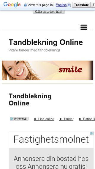 Mobile preview of tandblekningonline.n.nu