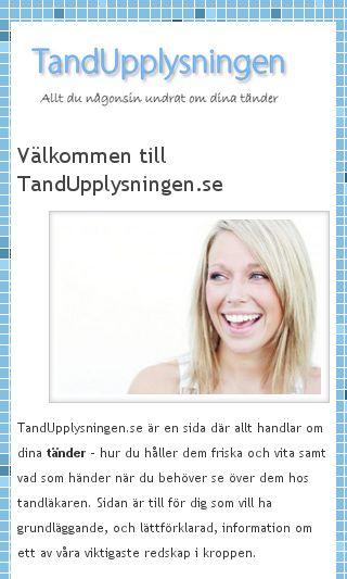 Mobile preview of tandupplysningen.se