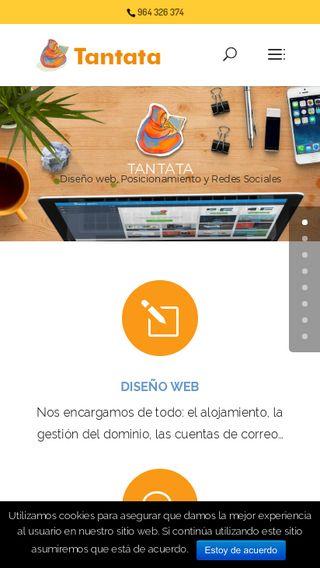 Mobile preview of tantata.es