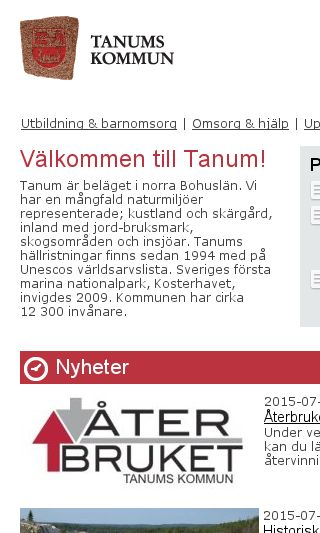 Mobile preview of tanum.se