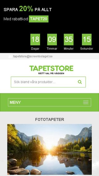 Mobile preview of tapetstore.se