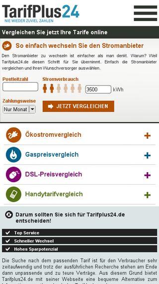 Mobile preview of tarifplus24.de