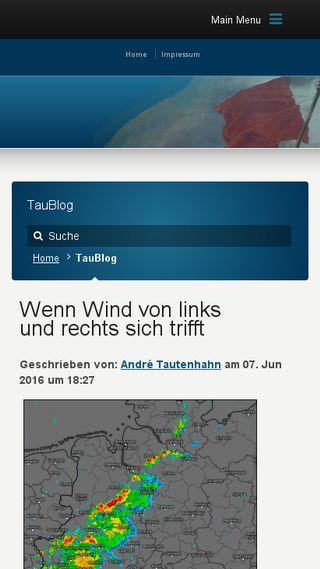 Mobile preview of taublog.de