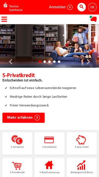 Mobile preview of taunussparkasse.de