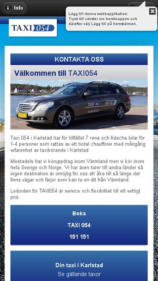 Mobile preview of taxi054.se