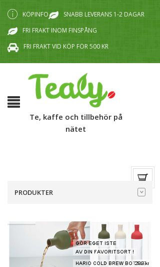Mobile preview of tealy.se