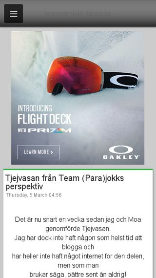 Mobile preview of teamparajokk.blogg.se